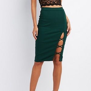 ✨✨CHARLOTTE RUSSE✨✨ Green Pencil Skirt